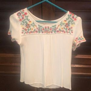 Embroidered top size small
